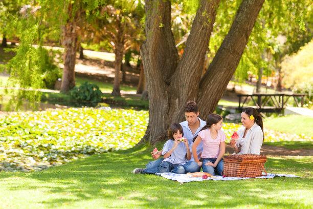 公园家庭野餐