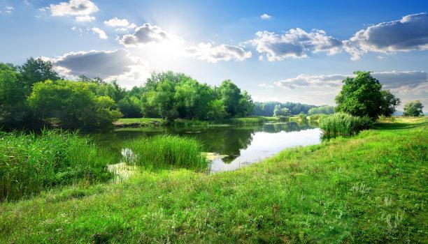河流和草地