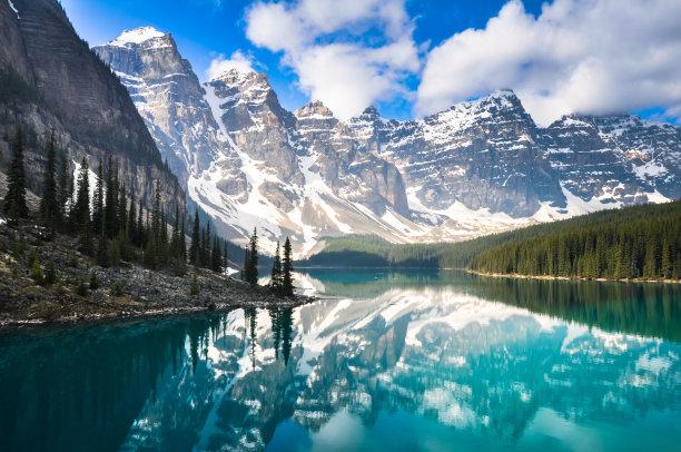 梦莲湖洛矶山脉加拿大