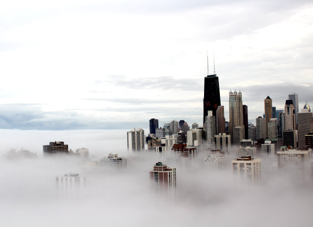 芝加哥市城市云