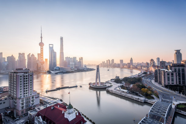 上海江边全景