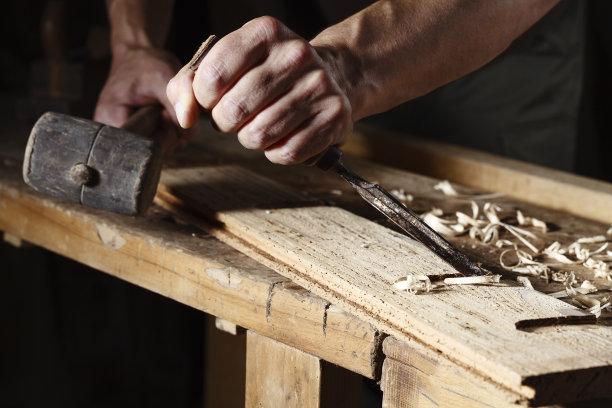 木匠工作特写