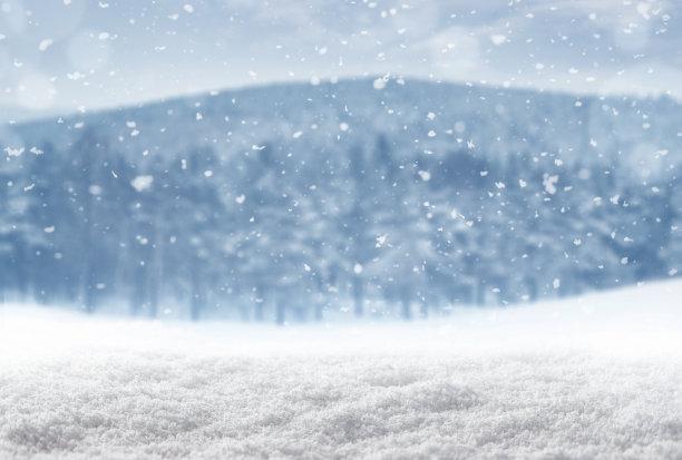 冬天雪天背景