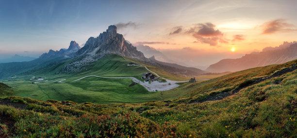 山多洛米蒂山脉阿尔卑斯山脉