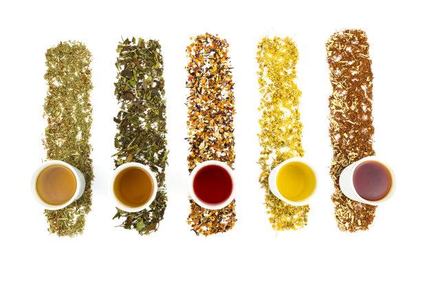 多种样式的茶叶