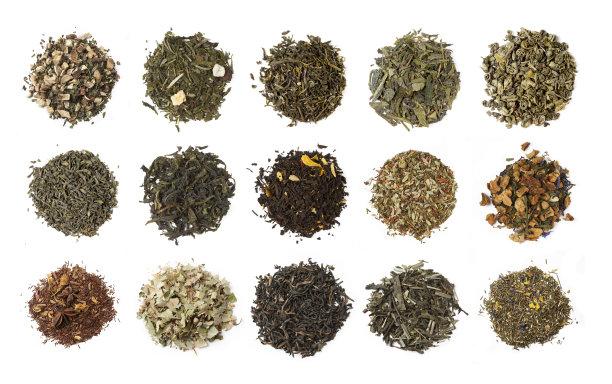 多样式的茶