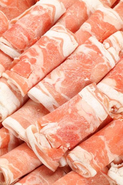 羊肉卷日式火锅菜垂直画幅