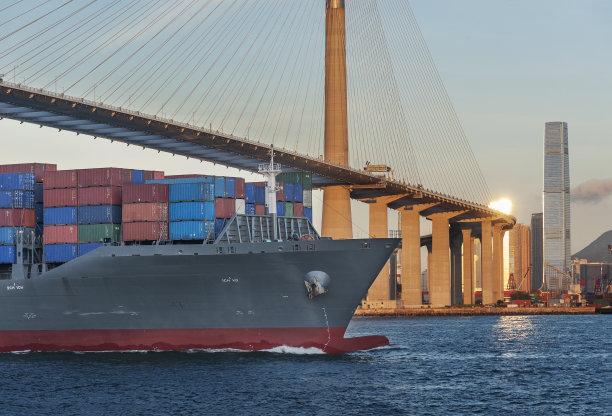 货船全球商务图片