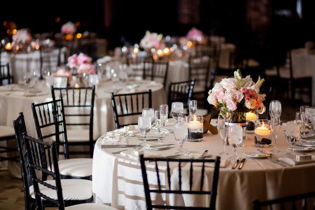 桌子结婚宴会水平画幅