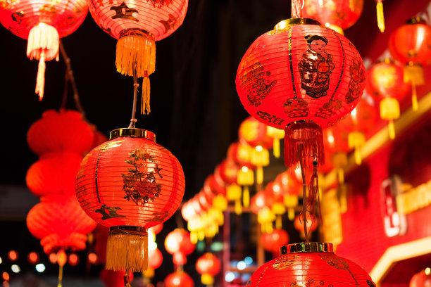 灯笼红色春节