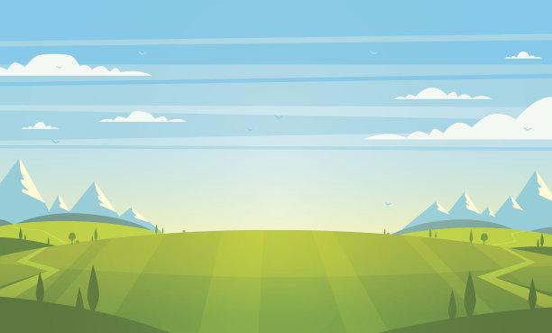 绘画插图矢量地形