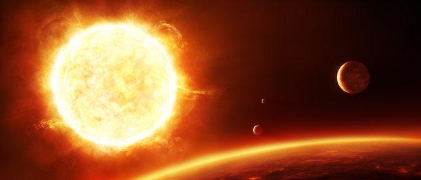 巨大的行星日光
