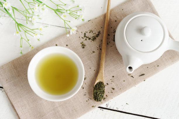 绿茶水平画幅绿色