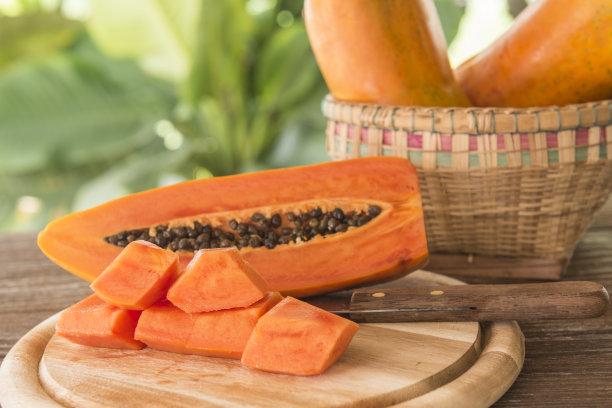 木瓜水平画幅素食