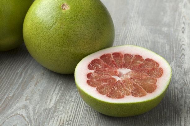 柚子红色水平画幅