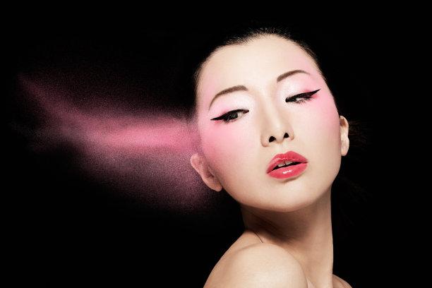 扑面粉时装模特图片