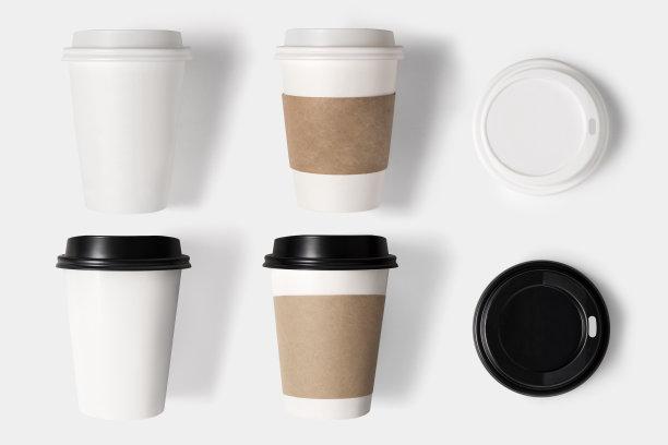 咖啡杯盖子概念