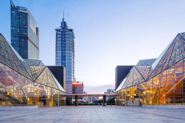 现代商务建筑外部