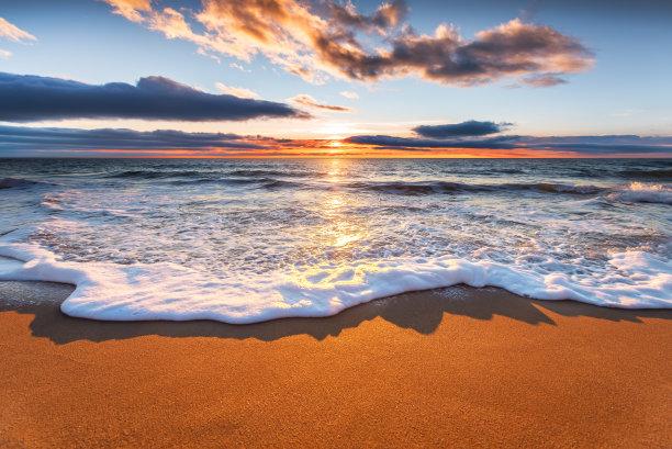 黎明,大西洋,水