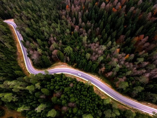 山路自然水平画幅