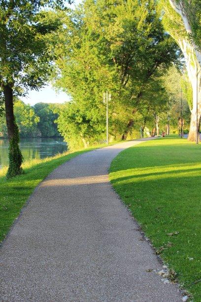 公园,河流,亚维尼翁
