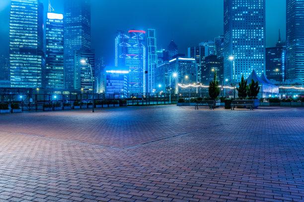 城市CBD夜景