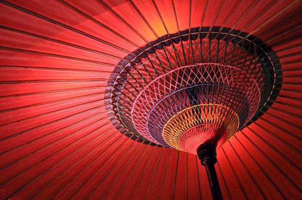 日本人,伞,红色