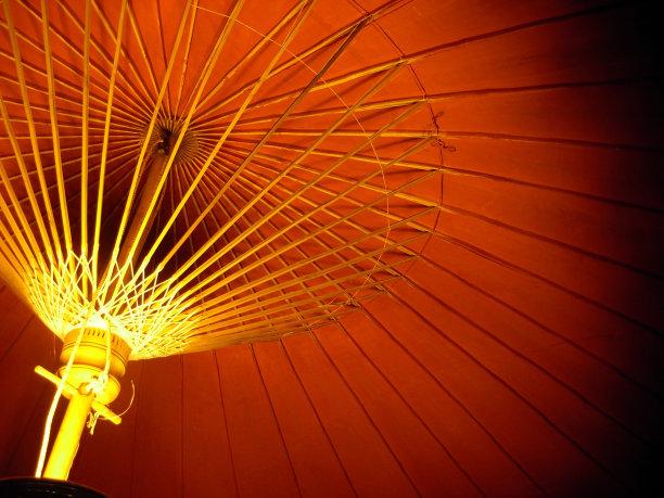伞,红色,拉那风景饭店