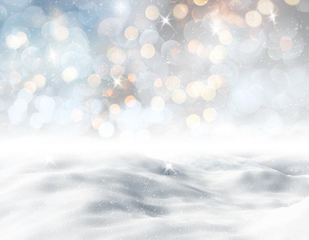 唯美模糊雪景