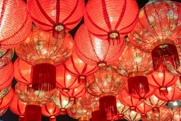 中国灯笼红色灯