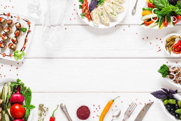 蔬菜边框背景