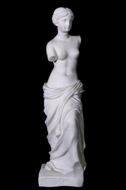 爱神雕像分离着色