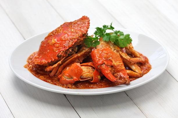红色的螃蟹