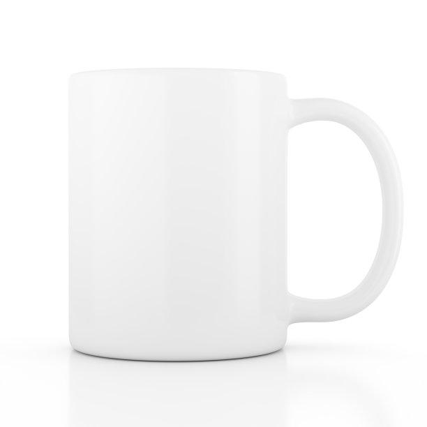 咖啡白色空的