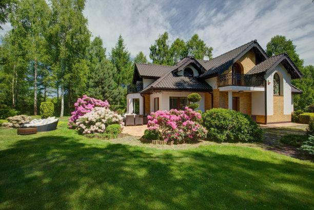 独立式住宅园林图片