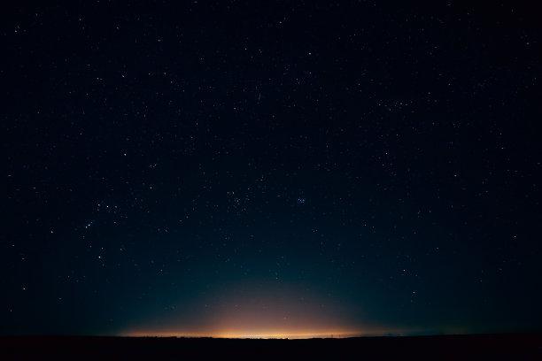 天空夜晚星星