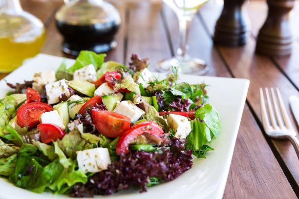 沙拉希腊食物图片