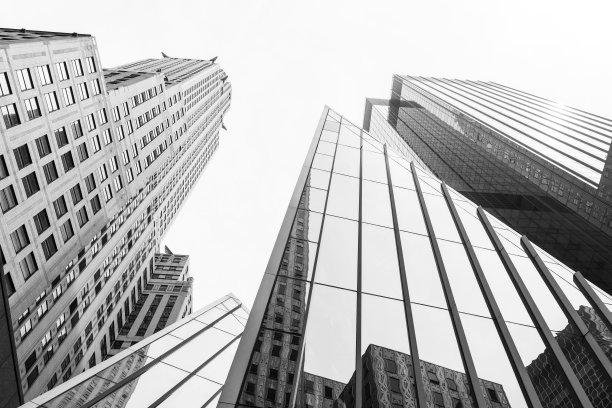 纽约现代城市高楼建筑