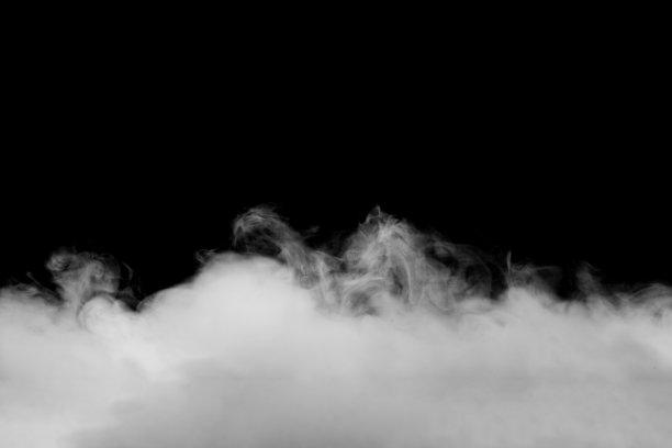 飘起的烟雾