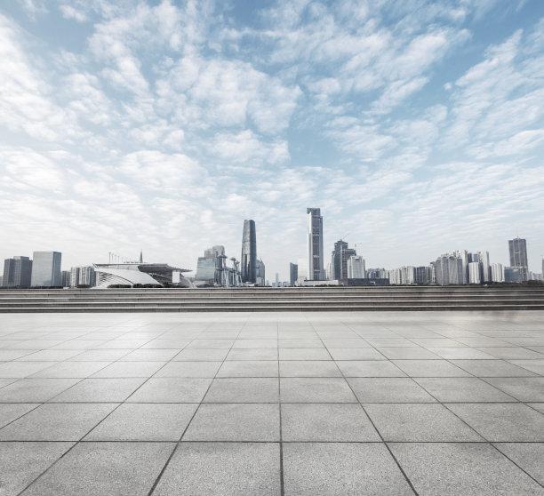 都市风景现代城市天际线