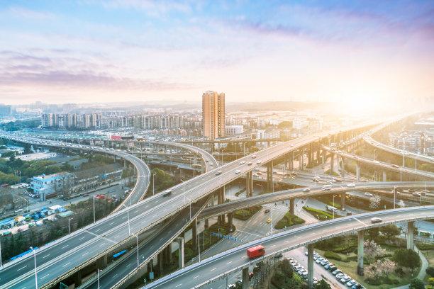 交通高架道路天空
