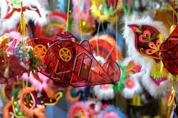 中秋节越南纸灯笼