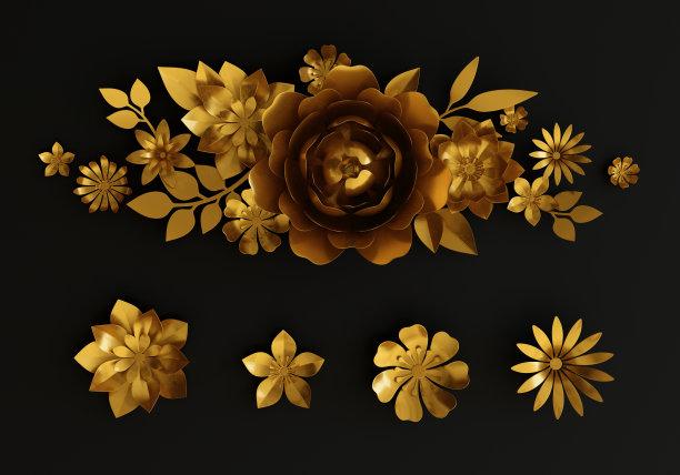 黄金三维图形数码图形