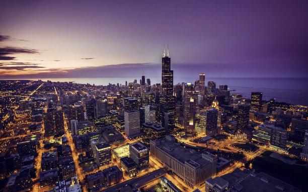 夜晚芝加哥