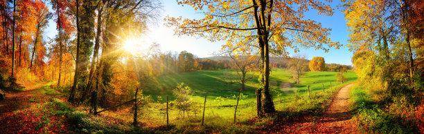 地形秋天全景