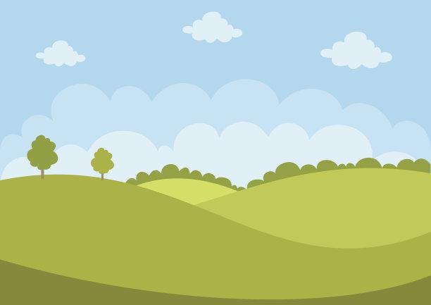 地形绿色天空