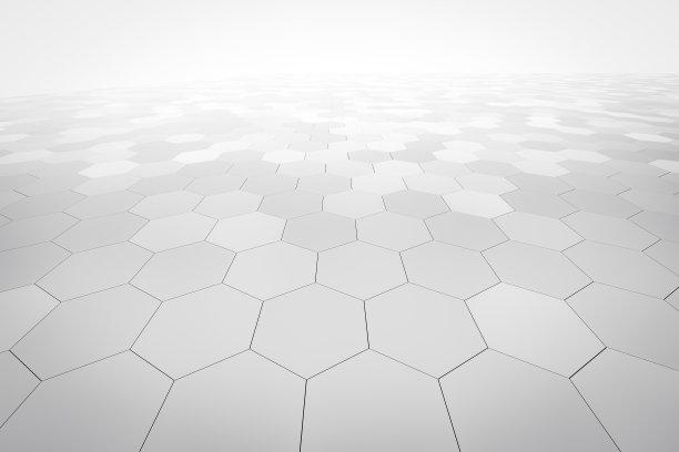 六边形透视背景