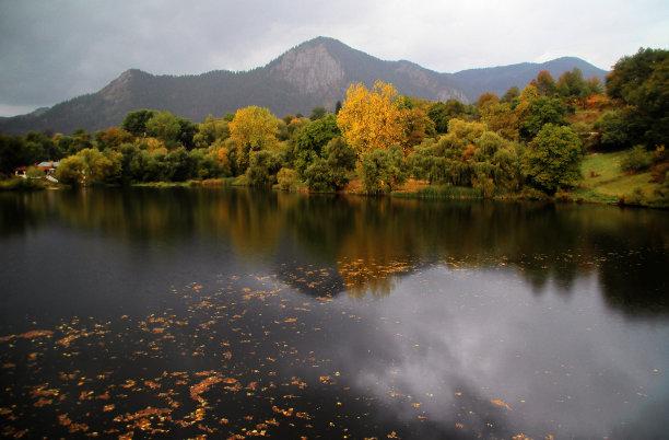 秋天,水,水平画幅