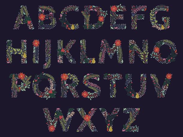 矢量字母图片