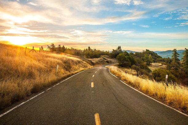 蒙特西罗公路的黎明